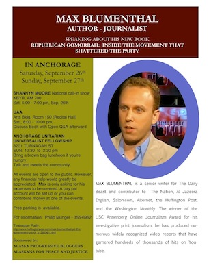 Max Blumenthal in Anchorage