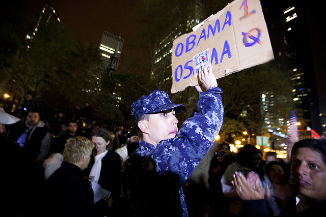 Obama 1, Osama 0. Photo by Dan Nguyen.
