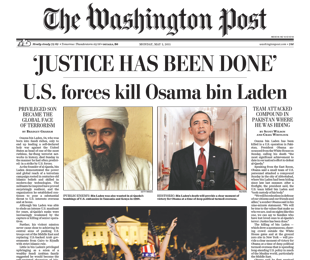 Washington Post headline on bin Laden's death
